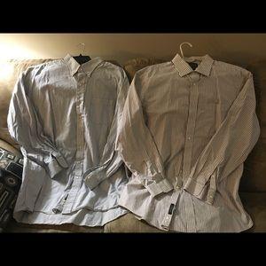 Joseph A. Banks 2 shirts 17.5 x 36 & 18 x 36